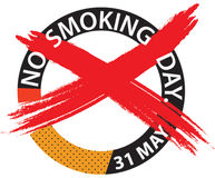 No smoking day illustrations Stock Image