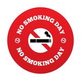 No smoking day sign. Quit smoking day symbol. Stock Photography