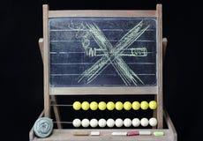 No smoking drawing on chalkboard Stock Image