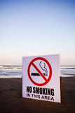 No Smoking Flag. The no smoking flag on the beach area Stock Photography