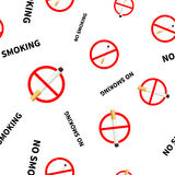 No smoking forbidden signs with realistic Stock Photography