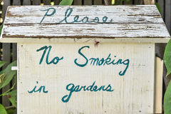 No smoking in gardens Stock Photography