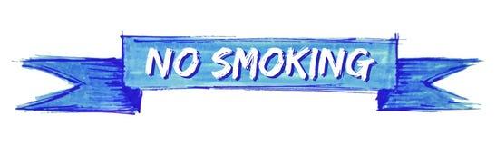 No smoking ribbon. No smoking hand painted ribbon sign royalty free illustration