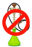 No smoking hookah sign Stock Photography