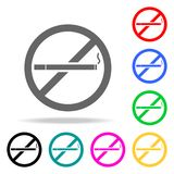 No smoking icon. Element firefighters multi colored icons for mobile concept and web apps. Icon for website design and development. App development. Premium Royalty Free Stock Image