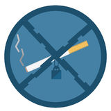 No smoking icon Royalty Free Stock Images