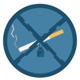No smoking icon. Flat design Royalty Free Stock Images