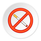 No smoking icon, flat style Stock Images