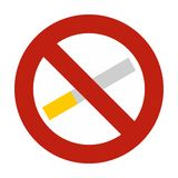 No smoking icon, flat style Royalty Free Stock Photography