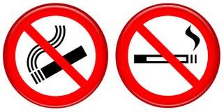 No smoking icon. Illustration icon no smoking, no cigarettes Royalty Free Stock Photos