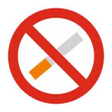 No smoking icon isolated Stock Photography
