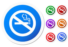 No smoking icon Stock Photography