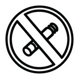 No smoking icon symbol. A creative no smoking icon stock illustration
