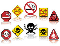 No Smoking Icons Stock Photography