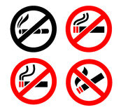 No smoking icons Stock Photos
