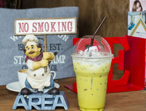 No smoking label in shop juices Stock Image