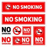 No Smoking labels set on a white background isolated  illustration eps10 Royalty Free Stock Photography