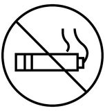 No Smoking Line Isolated Vector Icon fully vector illustration