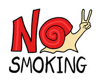 No smoking message Stock Photos