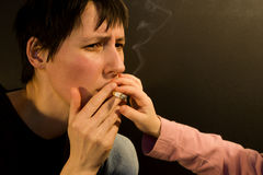 No for smoking of mother Stock Photography