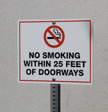 No Smoking Near Doorways Sign Stock Photos