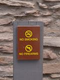 No smoking and no firearms. Sign Stock Images