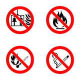 No smoking, No open flame, no matches, no lift. Stock Images