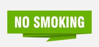 No smoking. Sign.  paper origami speech bubble.  tag.  banner vector illustration