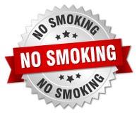 No smoking. Silver badge with red ribbon royalty free illustration