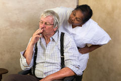No smoking in nursing home Stock Image