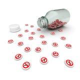 No smoking pills Royalty Free Stock Photography