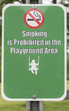 No Smoking on Playground Stock Image