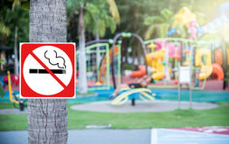 No smoking at the playground Royalty Free Stock Photo