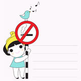 No Smoking Please Paper Note illustration Royalty Free Stock Photo
