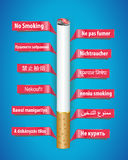 No smoking poster in different languages Stock Photos
