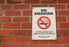 No Smoking On This Premises sign Stock Images