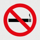No Smoking Prohibiting Sign - Vector Illustration - Isolated On Transparent Stock Photo