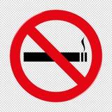 No Smoking Prohibiting Sign - Vector Illustration - Isolated On Transparent. Background royalty free illustration