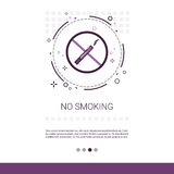No Smoking Public Sign Banner With Copy Space Royalty Free Stock Images