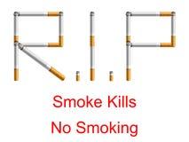 No Smoking - R.I.P Stock Photography