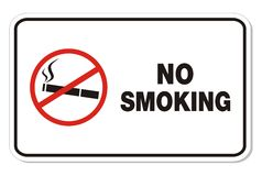 No smoking - rectangle sign Royalty Free Stock Photography