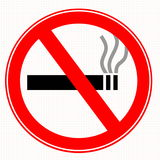 No smoking related concept sign Stock Images