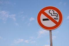 No smoking road sign Royalty Free Stock Photography