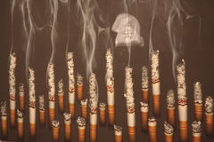 No smoking. It says NO SMOKING for health Royalty Free Stock Photography