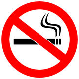 No smoking sign. Illustration over white royalty free illustration