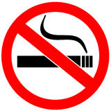 No smoking sign. Over white vector illustration