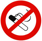 No smoking sign Stock Photography