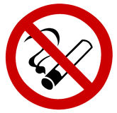 No Smoking Sign. No smoking stop sign restrict smoke isolated with clipping path over white background Stock Photos