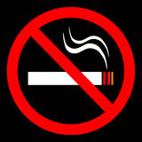 No smoking sign. An image showing no smoking royalty free illustration