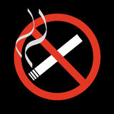 No smoking sign stock illustration